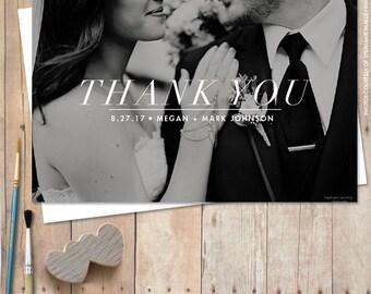 Wedding Thank You Card Printable - Classic Thank You Postcard
