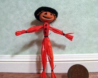Dollhouse miniature jack o'lantern shorty scarecrow