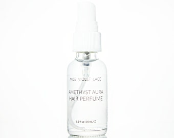 Amethyst Aura Hair Perfume   Jasmine + Rose   100% natural, vegan and organic - TRAVEL SIZE