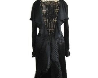 Black EMMANUEL UNGARO dress/Designer vintage/Haute Couture