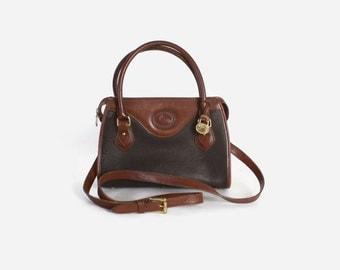 Vintage 80s D&B PURSE / 1980s Authentic Doony and Bourke AWL 2-Tone Leather Speedy Doctor Handbag