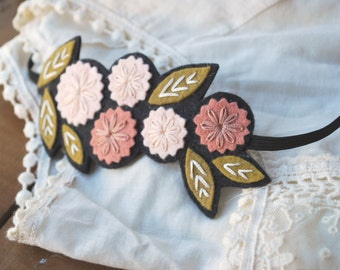 Boho Flower Headband - Wreath Headband - Boho Headband - Festival Headband - Flower Wreath Headband - Hippie Headband - Forehead Headband