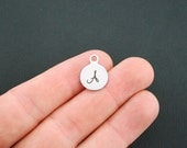 Letter A Stainless Steel Charms Alphabet - Uppercase Cursive - Exclusive Line - Quantity Options - BFSA2-A