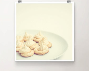 Sweets for my Sweet - Fine Art Print Plate Bakery Food HomeMade Meringues