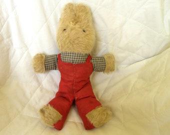 Primitive Rabbit - Vintage Rabbit Toy - 1950's Bunny Toy - Old Rabbit Toy