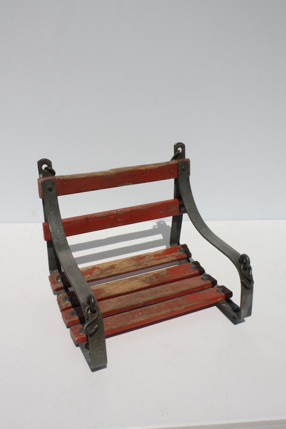 Vintage Wooden Child S Porch Swing Tree Swing Distressed