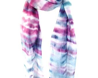 Tie dye scarf Pastel scarf Lightweight scarf Tye Dye Indian scarf Multicolor scarf Summer scarf Boho scarf Bohemian scarf KavitaKriti