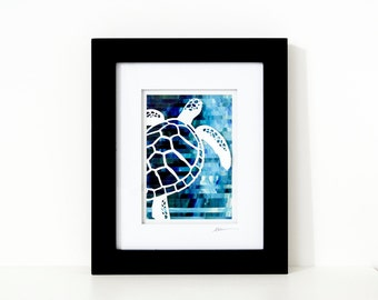 Sea Turtle Collage - One of A Kind Wall Art
