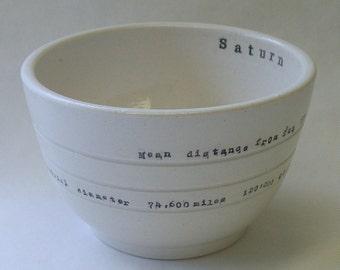 Saturn Porcelain Bowl
