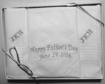 Father's Day Men's Handkerchief, personalized, monogram, 100% cotton