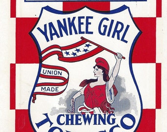 Yankee Girl Vintage Chewing Tobacco Bag, 1920-30s,