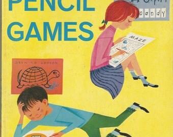 Big Book of Pencil Games Vintage Activity Book, C1962