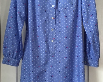 Vintage Schrader Sport Petites Shirt Dress size Medium/Large