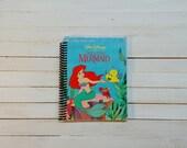 Little Golden Book/ Recycled Journal/ Spiral journal/ blank notebook/  The little Mermaid