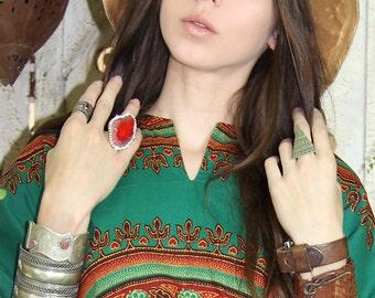 Arm Bracelet 70s Woven LEATHER Bracelet CUFF Lace-up Corset Bohemian Hippie // Vintage Clothing by TatiTati Style on Etsy