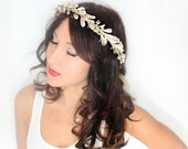 SALE Holiday Headband, flower Crown, New Years Eve, Winter Headpiece, Holiday accessory,  floral crown, Christmas Wedding, blue gold silver