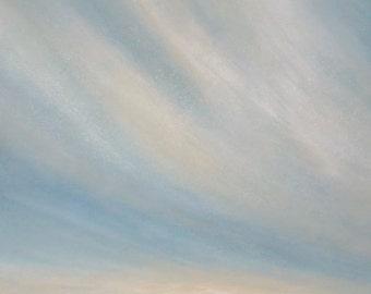 Original painting on canvas dawn over the ocean waves clouds sea coastal decor beach house decor
