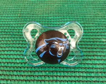 Carolina Panthers Custom Hand Painted Pacifier by PiquantDesigns