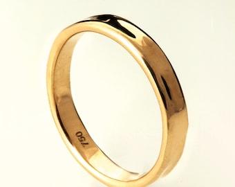 Simple Gold Wedding Band - 14k Rose Gold Ring , Unisex Ring , Rose Gold Wedding Ring , Rose Gold Wedding Band, men's wedding band, mens ring