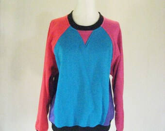 Starting Point Color Block Sweater Top