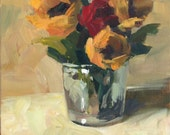 RESERVED for Dale - Warm Light - 8x8 inch ORIGINAL Acrylic Floral Painting