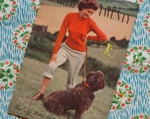 Vintage 1940s 1950s Knitting Patterns / Stitchcraft Knitting Booklet for Teens / Swimsuit Skating Skirt Sweater Cardigan