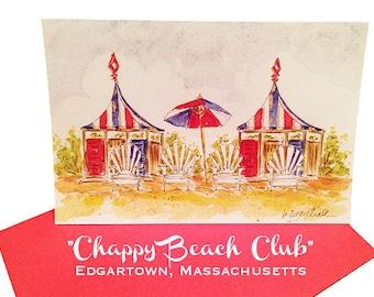 Chappy Beach Club - Notecards/Greeting Cards - Edgartown, Martha's Vineyard
