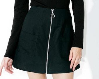 zipper pocket skirt blackipper skirt black skirt pocket skirts black skirts zipper pocket skirts