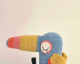 Will the tropical bird-Crochet pattern/amigurumi
