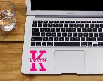 Monogram Decal, Initial Decal with Name, Personalized Monogram Decal, Custom Initial Decal, Monogram Car Decal, Laptop Sticker, Laptop Decal