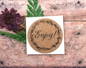 Enjoy Stickers, Envelope Seals, Labels, Packaging Label, Mason Jar Label