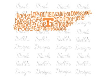 Rocky Top Tennessee State Outline SVG or Silhouette Instant Download