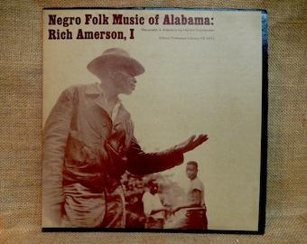 Ethnic Folk Library - Negro Folk Music of Alabama, Vol. I - 1966 Vintage Vinyl Record Album...Includes Lyrics Insert