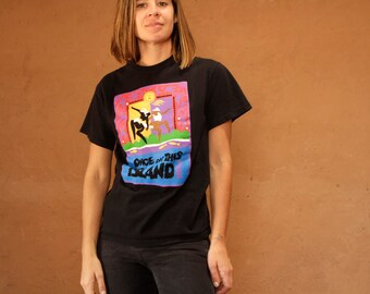 Once on This ISLAND jr. vintage black t-shirt THEATER play 90s vintage t-shirt