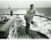 "Vintage Photo ""Amnesia Seas"" Boat Motion Blur Snapshot Photo Old Antique Photo Black & White Photograph Found Paper Ephemera Vernacular - 57"