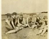 "Vintage Photo ""Beach Legs"" Snapshot Photo Old Antique Photo Black & White Photograph Found Paper Ephemera Vernacular - 152"