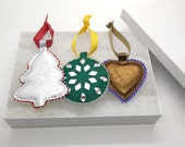 Leather  Christmas Ornaments set.
