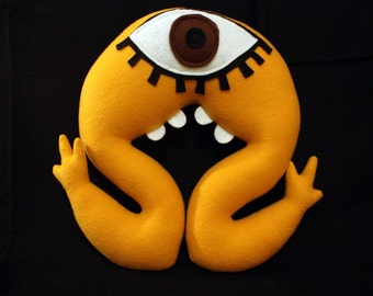 Murphy the Yellow Brown Eyed Cyclops Monster