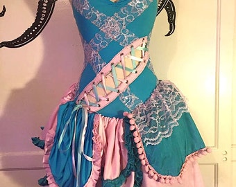 Fairy Dress - Cosplay - Cotton Candy - Gothic Cute - Corset Dress - Whimsical Dress - Made to Order - Halloween Dress