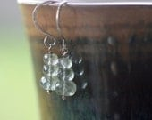 Moss aquamarine stack earrings in sterling silver