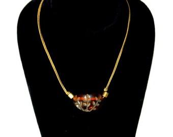 Vintage 1930s Bakelite Pendant Necklace