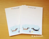 Dachshunds Under The Sea Notepads (set of 2)