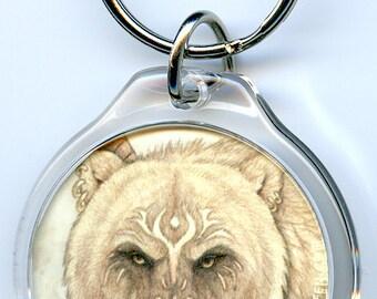 Gruff Bear Keychain