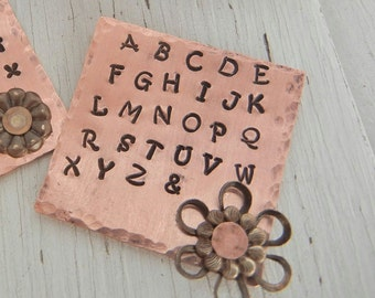 2mm UPPERCASE Aras Font Alphabet Letter Punch Set -  Steel Alphabet Letter Punch Stamp Set - Metal Stamps for Hand Stamped Jewlery