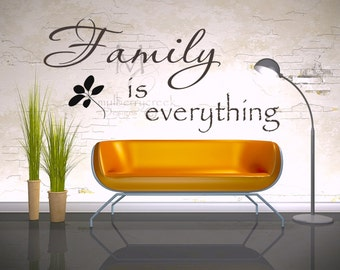 Family Vinyl Decal Family is Everything-Vinyl Wall Decals