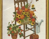 1980s Autumn Gardening Crewel Embroidery Kit 2388 Sunset Stitchery Designed by Donna Yuen NIP Crewel Embroidery Kit Birthday Gift for Her