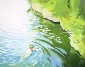 "8x8"" print - landscape - ""Swim 2"""