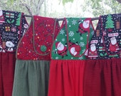RESERVED for Debi R., 4 Christmas Hanging Hand Towels, All Cotton
