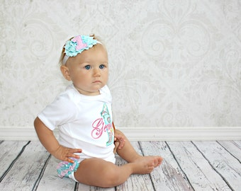 First Birthday Outfit Girl Personalized 1st Birthday Girl Smash Cake Outfit Baby Girl Clothes Ruffle Bottom Personalized Birthday Outfit