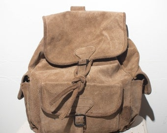 Rough Out leather Backpack Rucksack Book Bag
